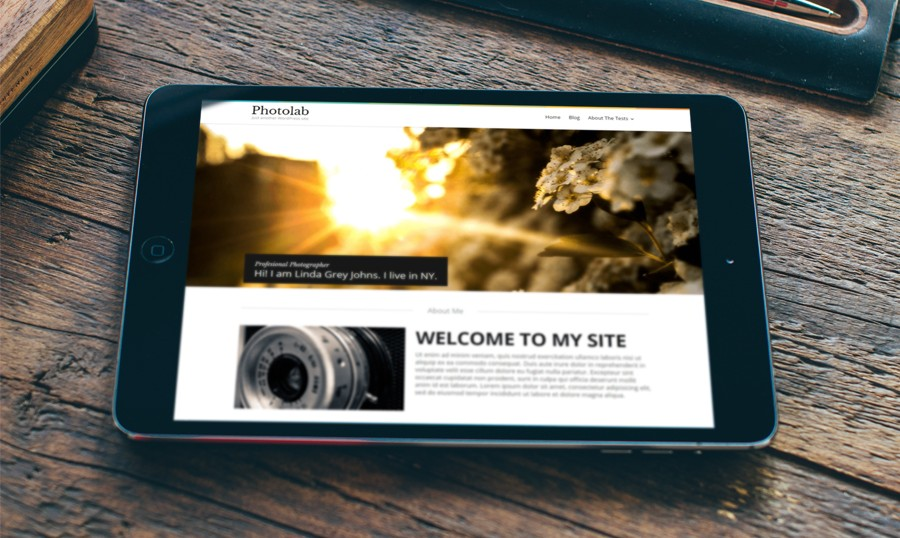 Photo Lab - free blogger templates