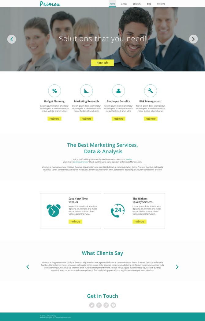 Primex - free html5 templates