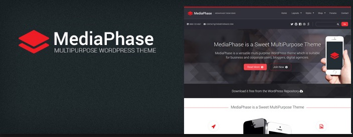 MediaPhase - best free responsive WordPress business themes