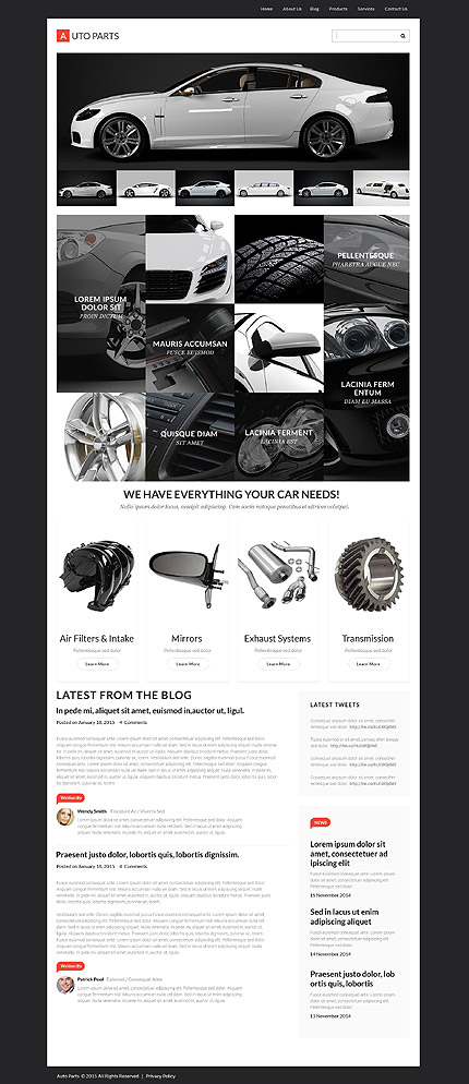 auto cars black and white wordpress themes