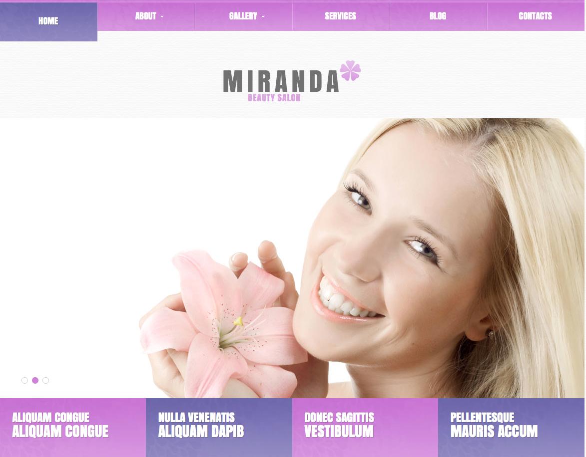 Miranda - feminine wordpress theme