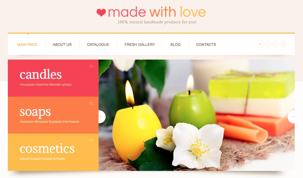 Made with love wordpress theme