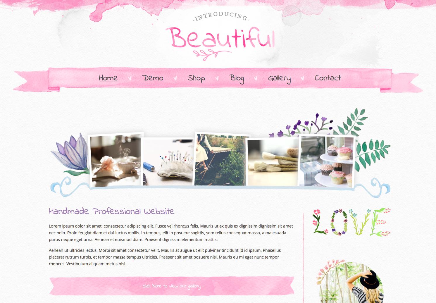 Beautiful word press theme for women