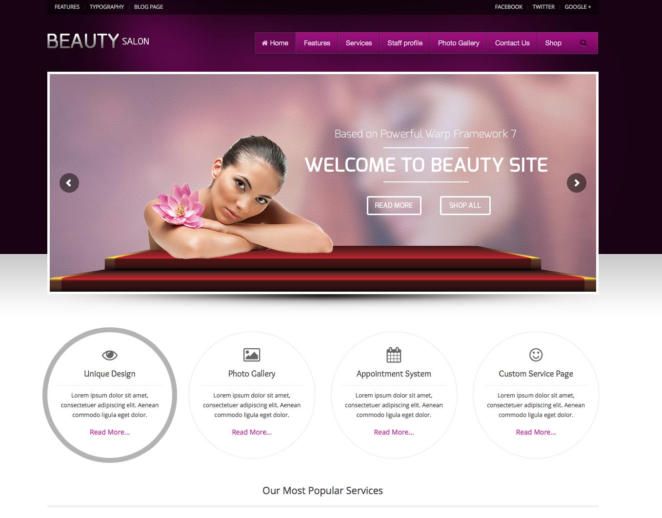 Beauty salon - theme women