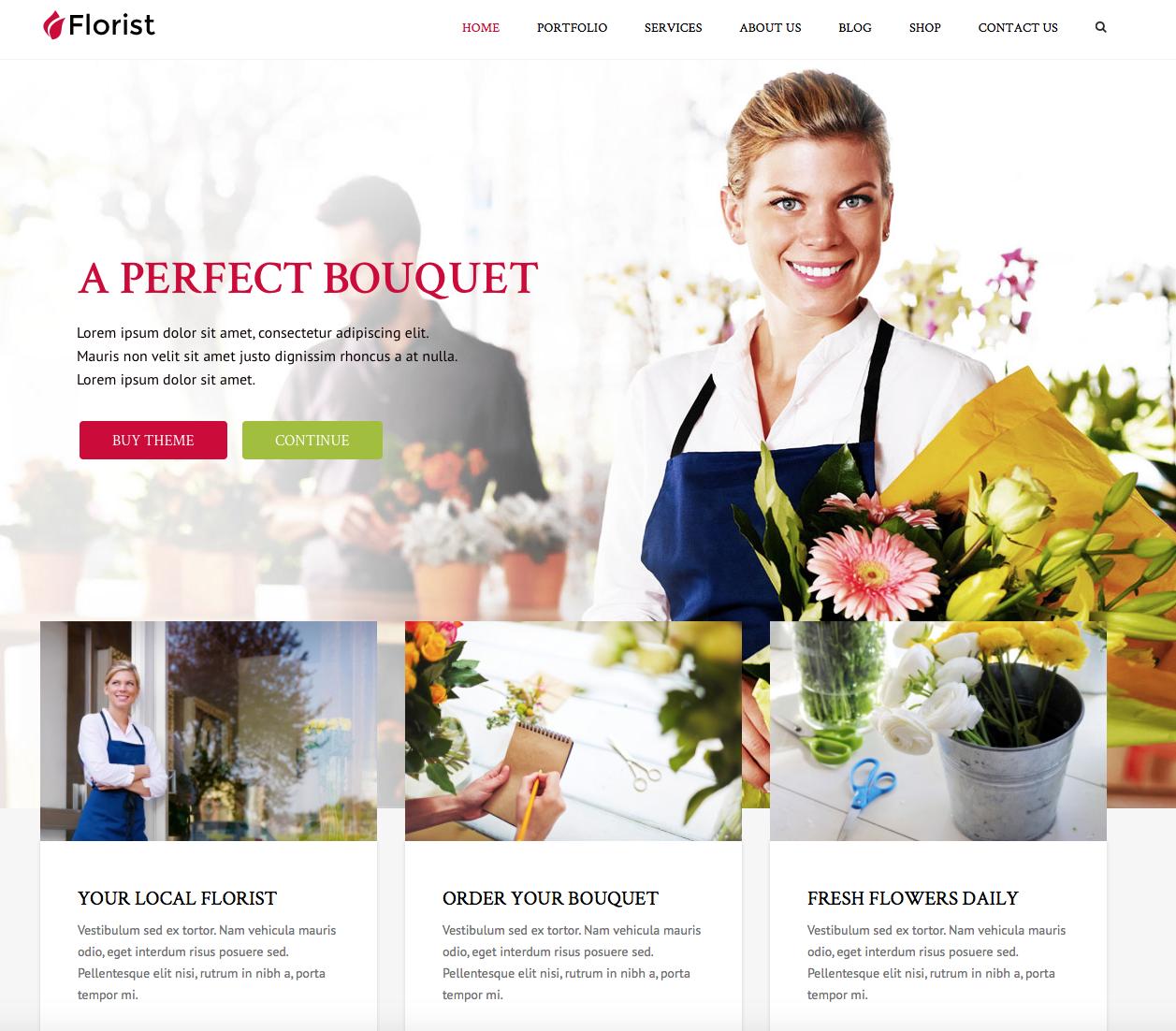 florist wordpress theme for women
