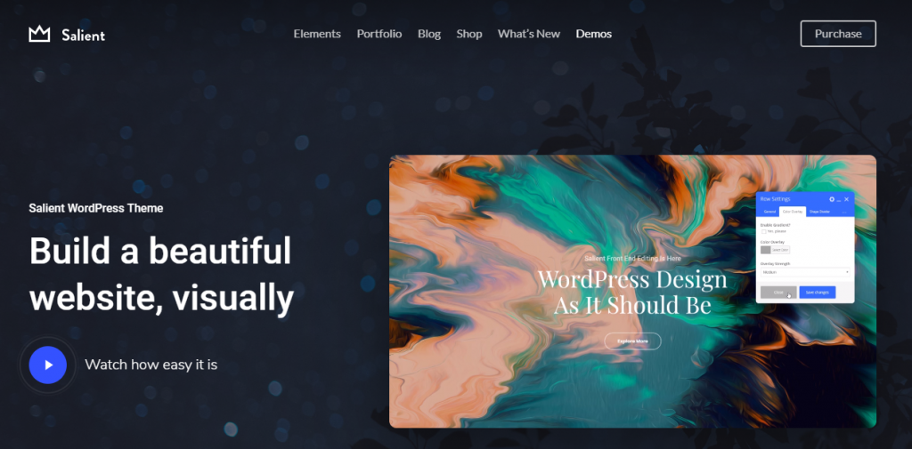 salient premium wordpress theme