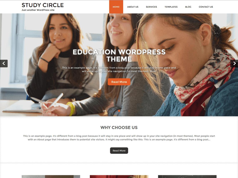 study circle wordpress theme