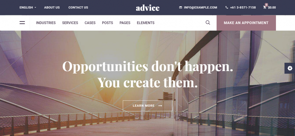 advice wordpress theme