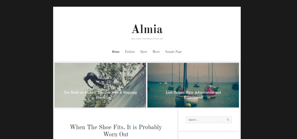 almia wordpress theme for blogs