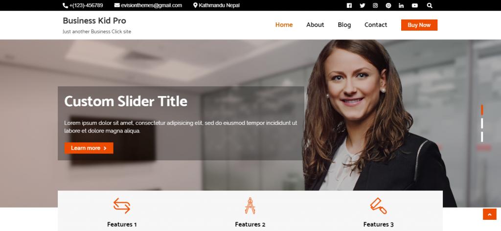 business click wordpress theme