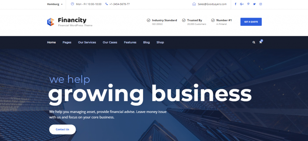 financity wordpress theme