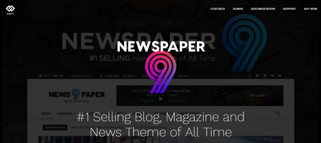 newspaper wordpress theme for blog