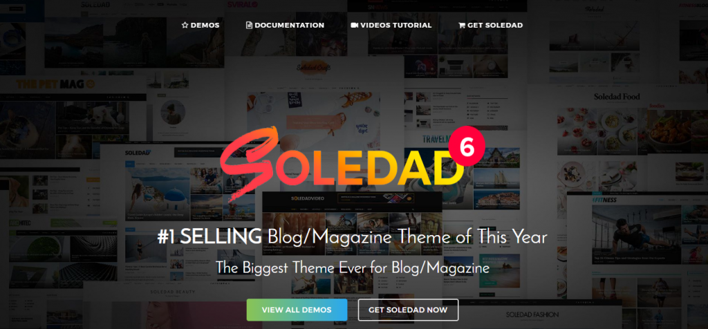 soledad wordpress theme for blog