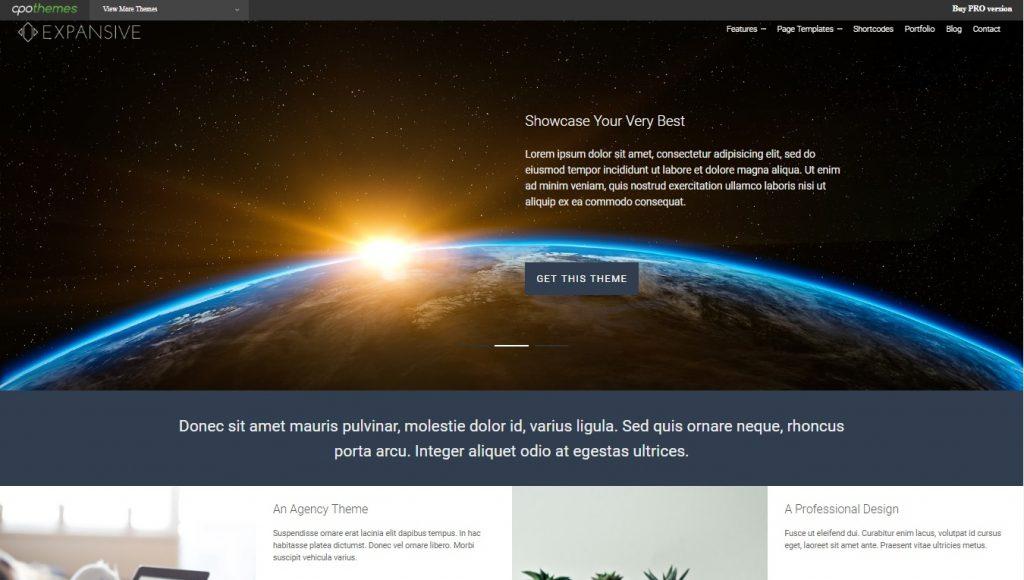 expansive wordpress theme