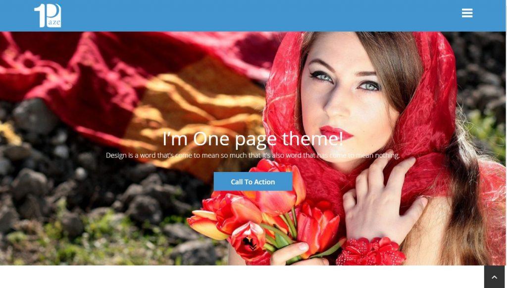 one paze wordpress theme