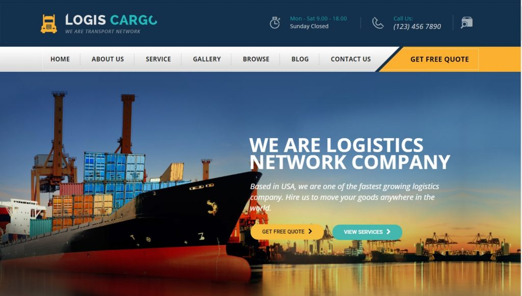 logiscargo wordpress theme