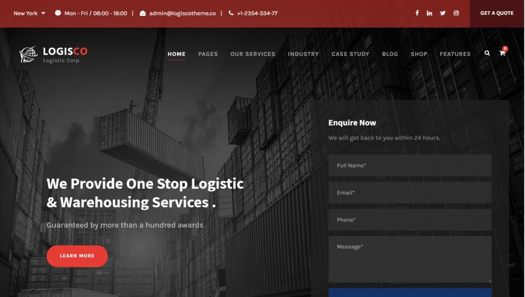 logisco wordpress theme