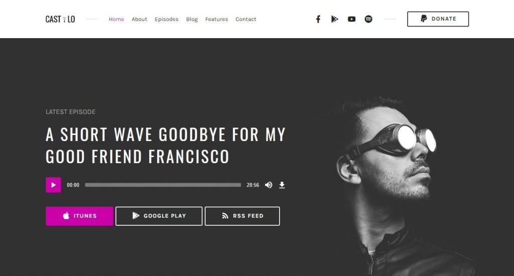 Castilo WordPress theme