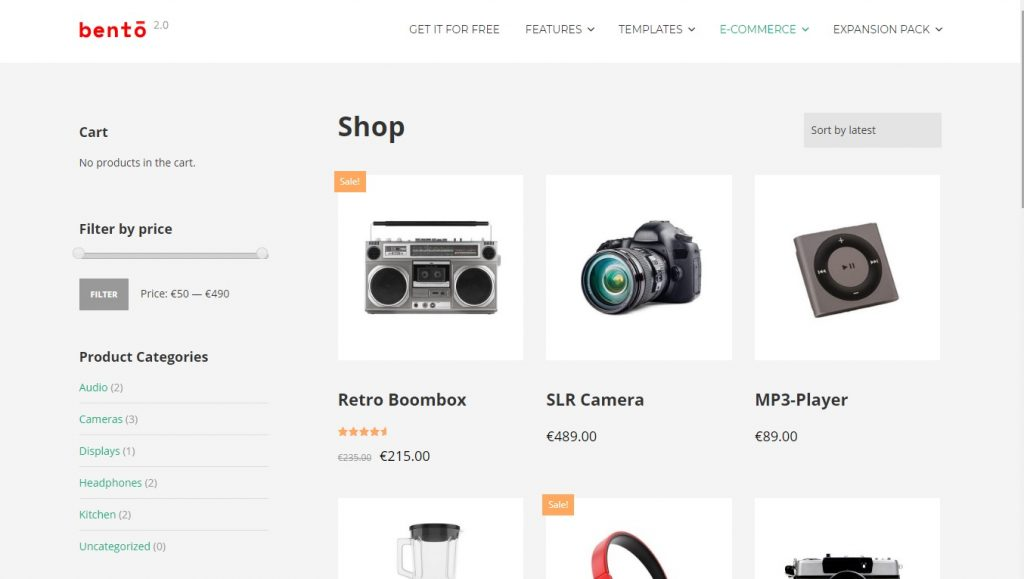 bento wordpress theme