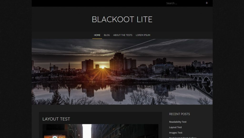 blackoot lite wordpress theme