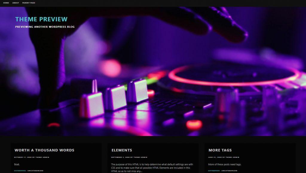 deejay wordpress theme