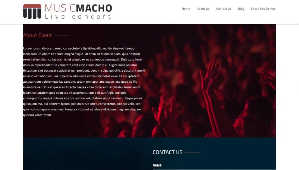 music macho wordpress theme