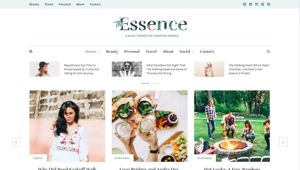 the essence wordpress theme