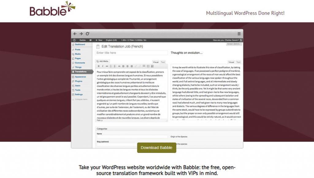 babble wordpress plugin