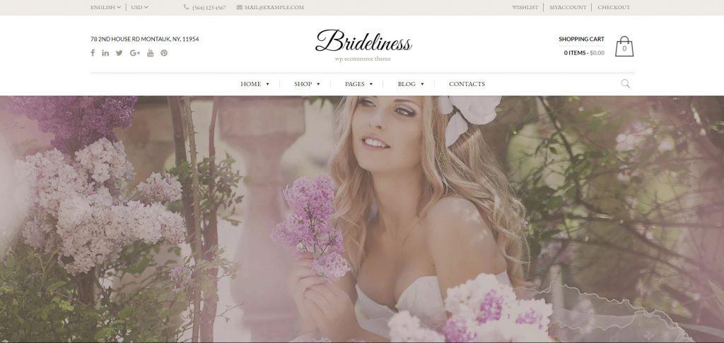 Brideliness WordPress theme