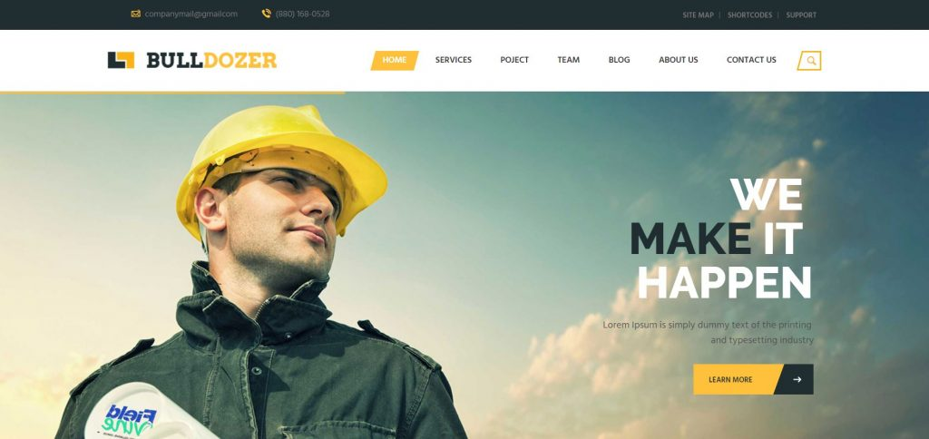 bulldozer wordpress theme