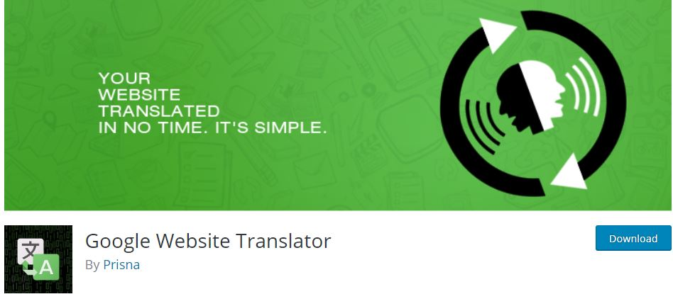 google website translator plugin