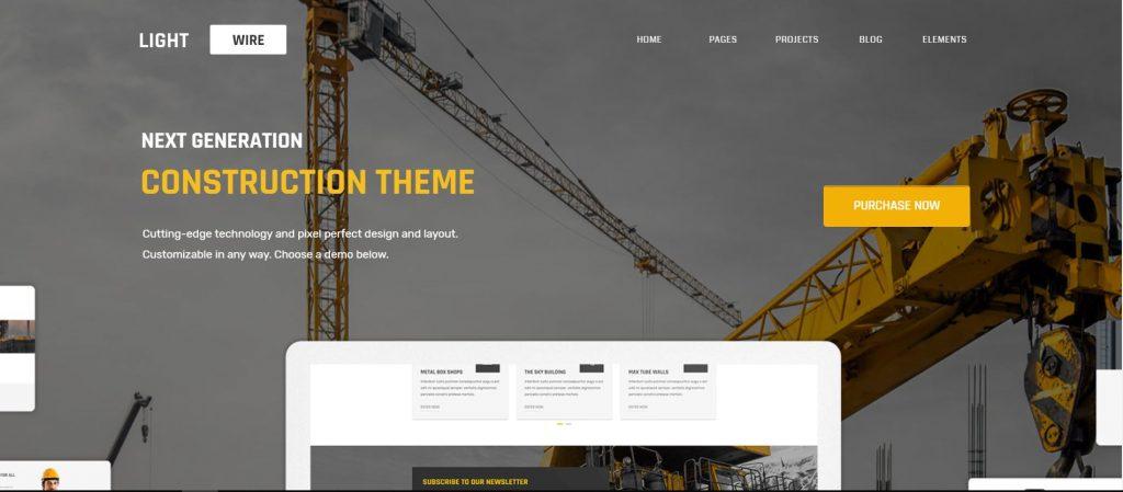 lightwire wordpress theme