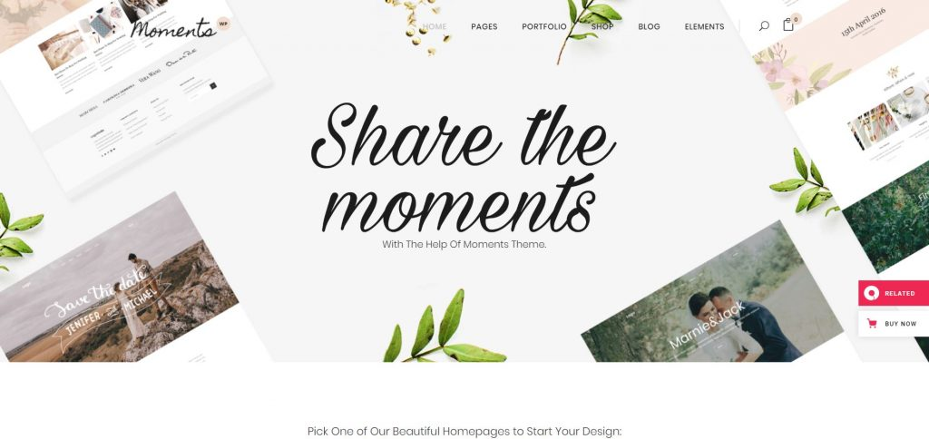Moments WordPress theme