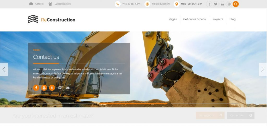 reconstruction wordpress theme