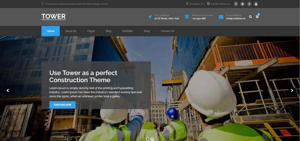 tower wordpress theme