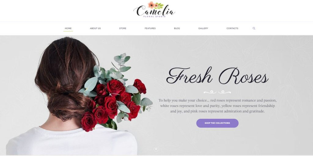 camelia wordpress theme