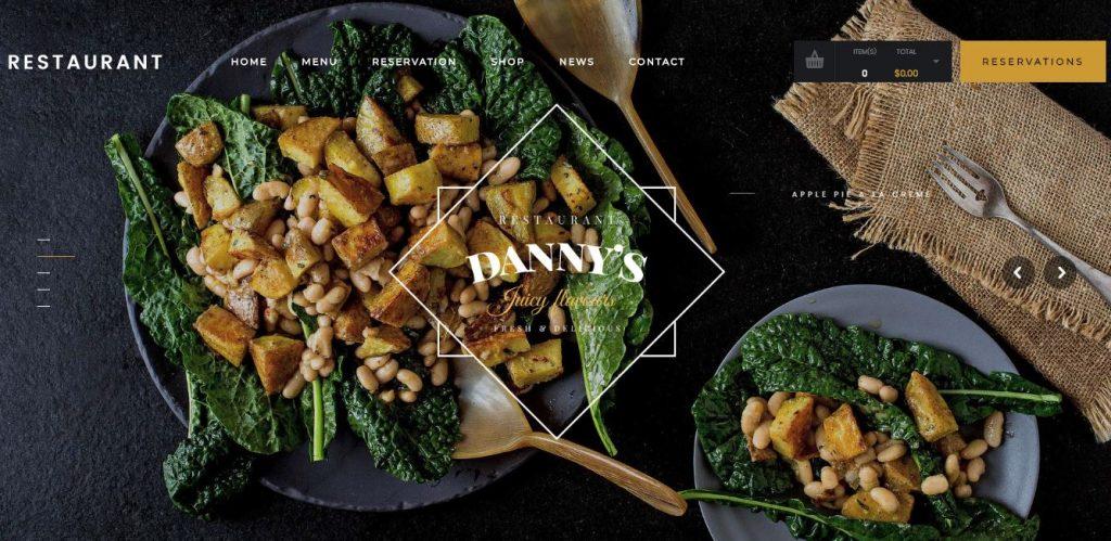 dannys restaurant wordpress theme