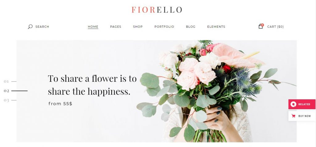 fiorello wordpress theme