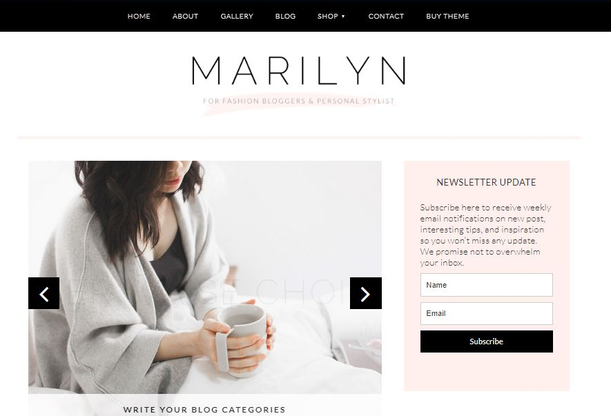 marilyn wordpress theme