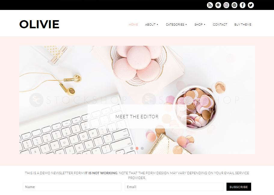 olivie wordpress theme