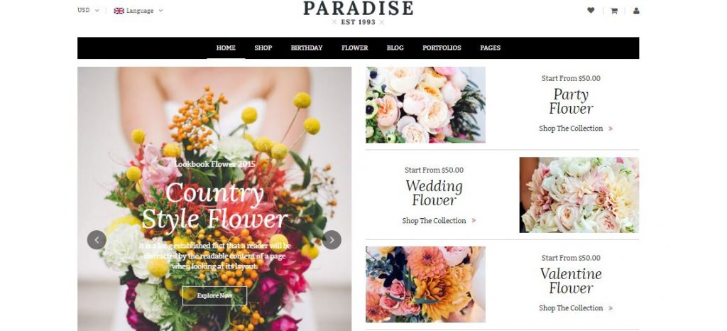 paradise wordpress theme