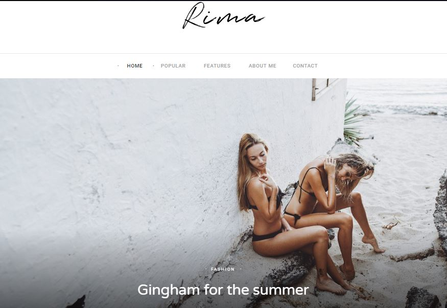 rima wordpress theme