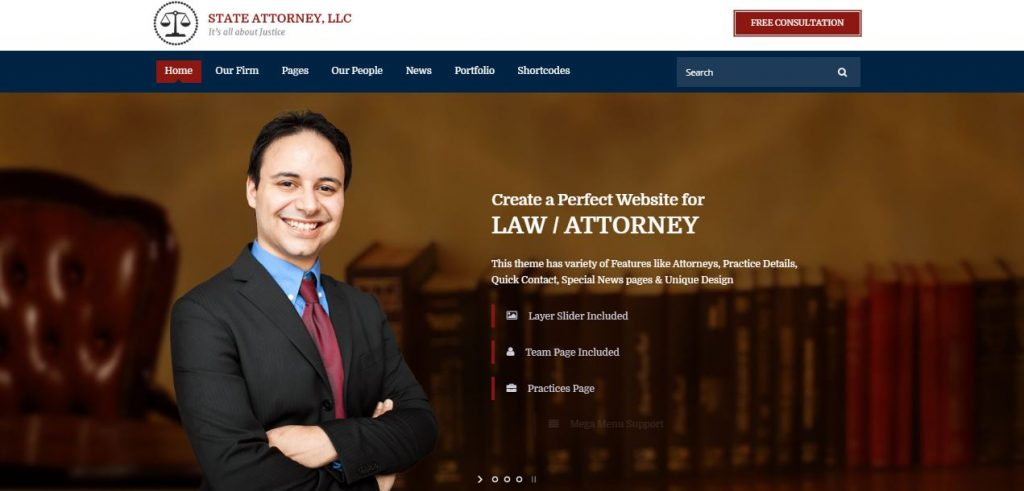 attorney & lawyer wordpress theme