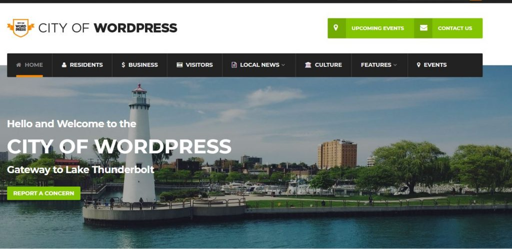 city of wordpress theme