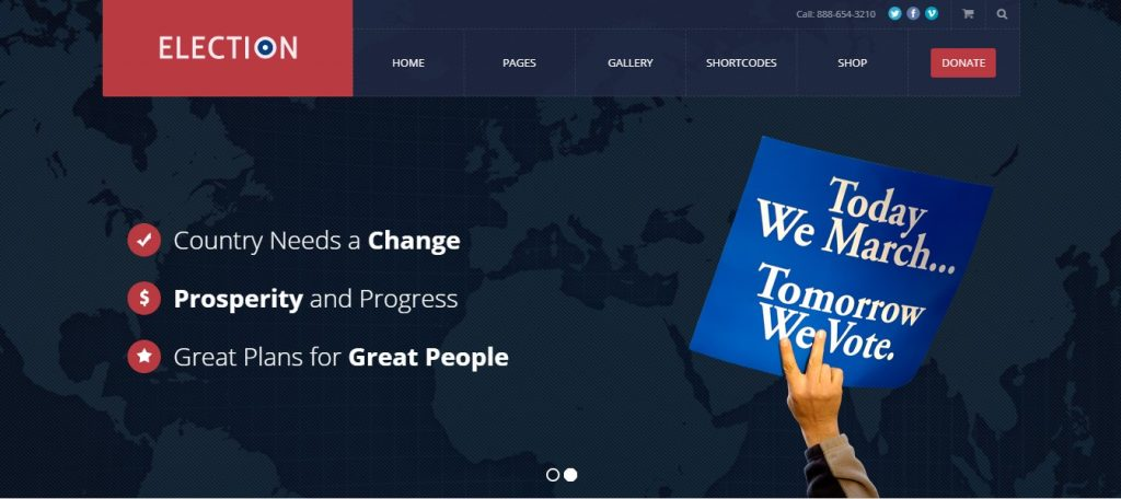 election wordpress theme