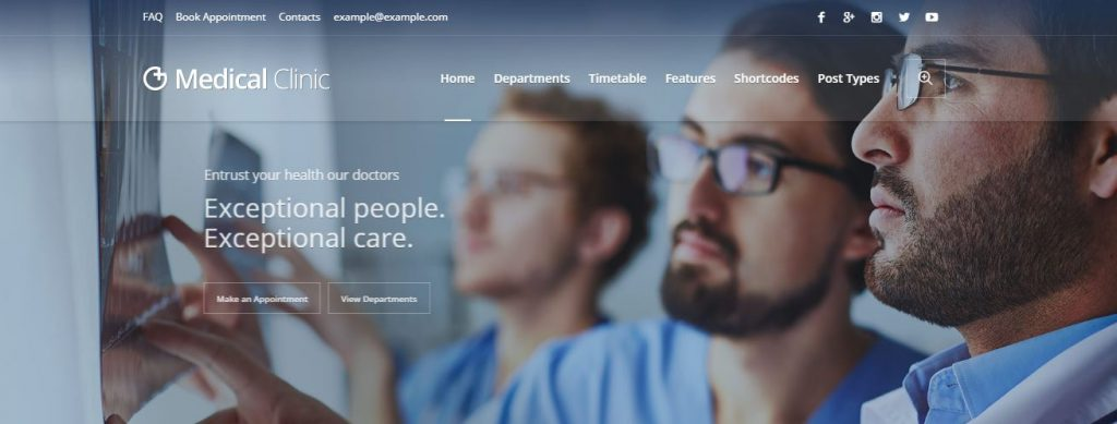 medical clinic wordpress theme