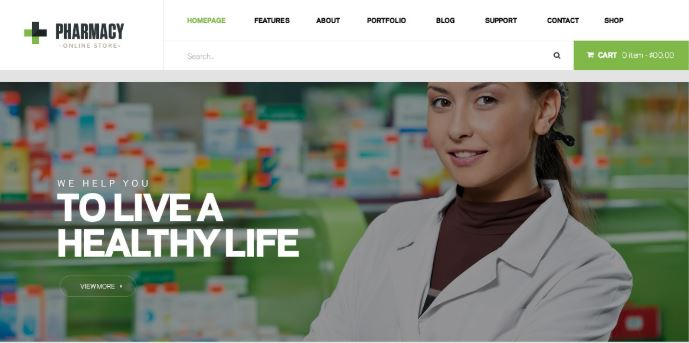 pharmacy wordpress theme