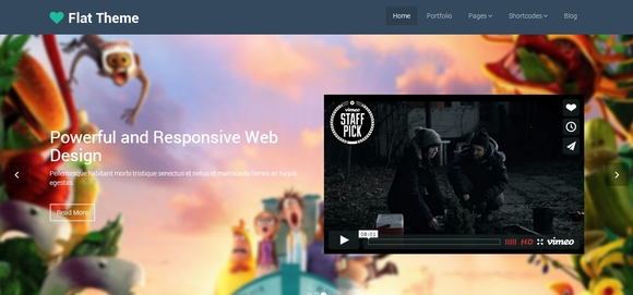 Flat - bootstrap templates 2014