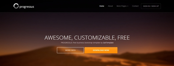 Progressus - free website templates