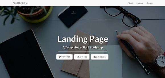 Landing Page - bootstrap